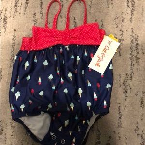 NWT! adorable baby one piece ice cream swimsuit!